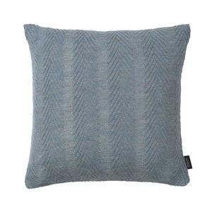 LOUISE ROE COPENHAGEN - 100% baby alpaca cushion herringbone antique blue - Square Cushion