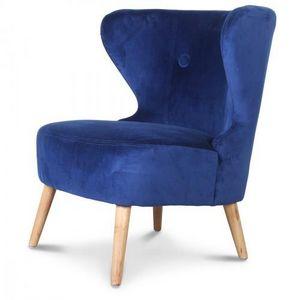 Demeure et Jardin - fauteuil crapaud design scandinave bleu teal kokün - Armchair