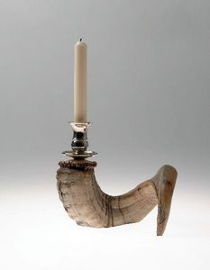 CLOCK HOUSE FURNITURE - ram's horn candlestick - Candlestick