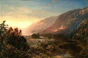 ERNEST JOHNSON ANTIQUES - autumn sunrise - Landscape Painting