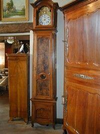Au Mobilier Vendéen - pendule louis xv cerisier - Free Standing Clock
