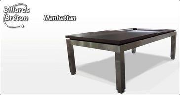 Billards Breton manhattan - billiard table - brushed stainless steel - billards