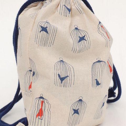 RêVES DE GRENOUILLE - Backpack (Children)-RêVES DE GRENOUILLE-oiseaux