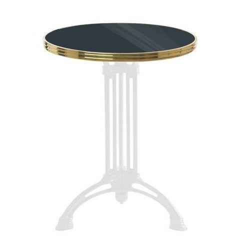 Ardamez - Bistro table top-Ardamez-Plateau de table de bistrot émaillée / anthracite