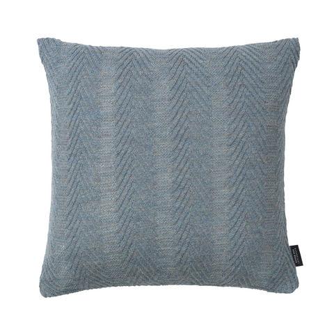 LOUISE ROE COPENHAGEN - Square Cushion-LOUISE ROE COPENHAGEN-100% Baby Alpaca Cushion Herringbone Antique Blue