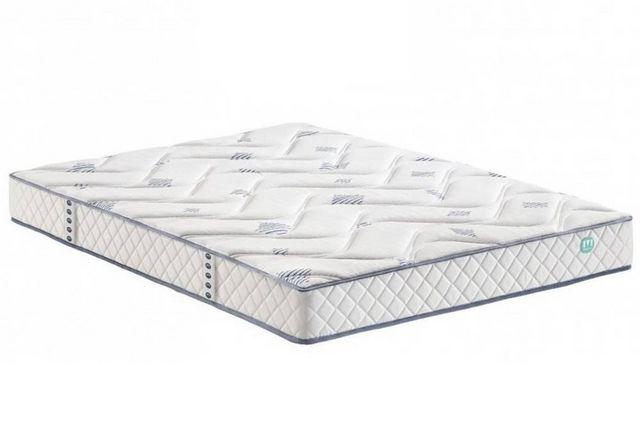 WHITE LABEL - Spring mattress-WHITE LABEL-Matelas TONKAI MERINOS longueur couchage 200cm épa