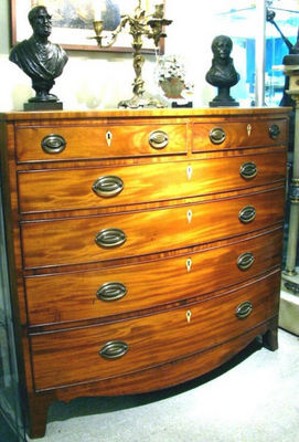 ERNEST JOHNSON ANTIQUES - Chest of drawers-ERNEST JOHNSON ANTIQUES-Federal style chest of Drawers