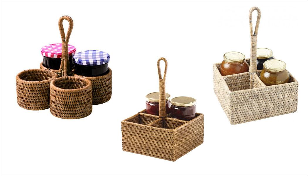 ROTIN ET OSIER Halter für Marmeladengläser Rund um den Tee Tischzubehör  |