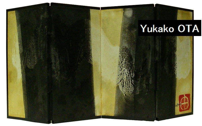 Yukako Paravent Sichtschutzwand Tisch   