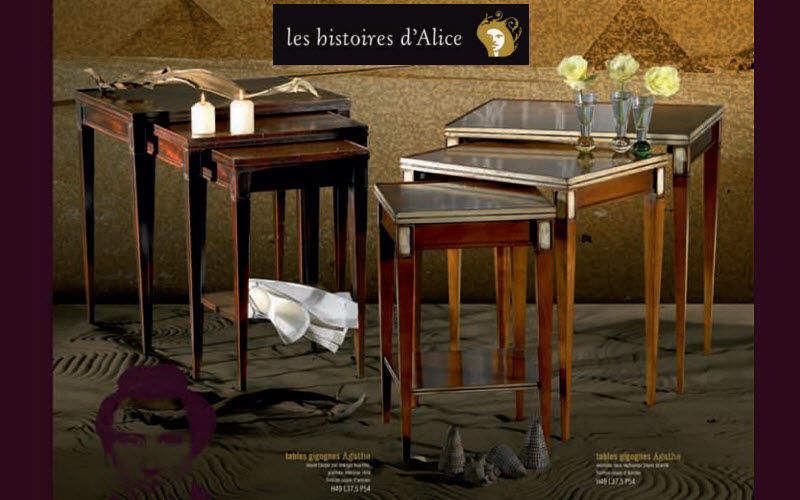 LES HISTOIRES D'ALICE Tischsatz Beistelltisch Tisch  |