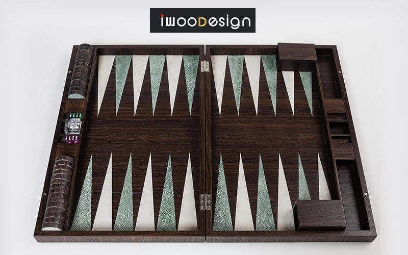 IWOODESIGN Backgammon Gesellschaftsspiele Spiele & Spielzeuge  |