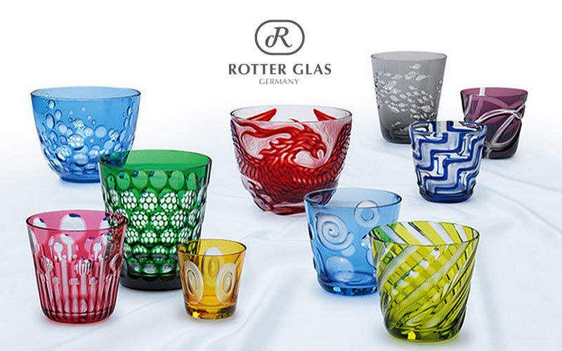 Rotter Glas Trinkbecher Gläser Glaswaren   