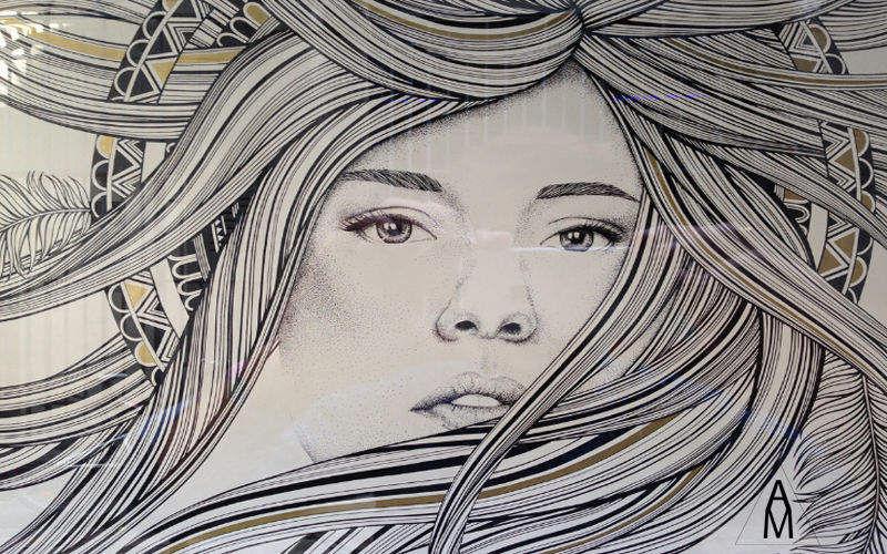 A&M Freske Wandschmuck Verzierung  |