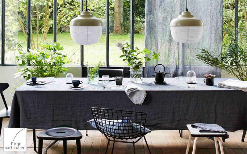 LINGE PARTICULIER Rechteckige Tischdecke Tischdecken Tischwäsche  |