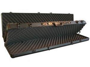 MEZZI - double valise noir pour fusil à chasse - Gewehrkoffer