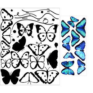 ALFRED CREATION - sticker papillons bleus - Gummiertes Papier