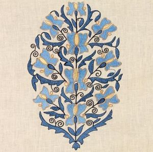 Vaughan - embroidered linen  - Bezugsstoff