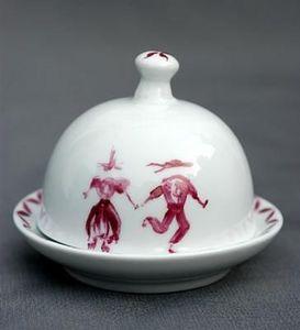 Porcelanne -  - Einzelne Butterschale
