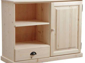 BARCLER - meuble tv en bois brut 107x40x83cm - Hifi Möbel