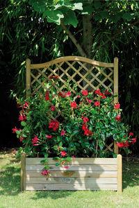 JARDIPOLYS - bac à fleurs avec treillage 64,5 litres 80x40x152c - Blumenkasten