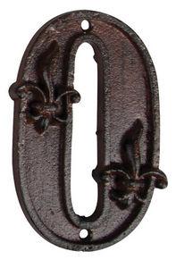 BEST FOR BOOTS - numéro de maison 0 en fonte 11,4x7x1cm - Hausnummerschild