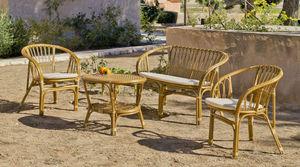 HEVEA - salon extérieur 4 pièces nilfisk en rotin naturel - Gartengarnitur