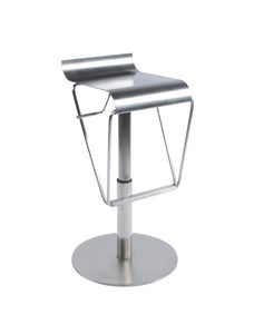 KOKOON DESIGN - tabouret de bar design en métal brossé - Barstuhl