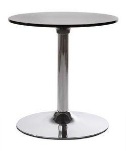 KOKOON DESIGN - table basse ronde shinea en abs noir 60x60cm - Beistelltisch