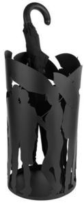 Balvi - porte parapluies design en métal noir people 43x22 - Schirmständer