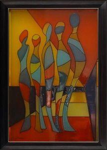 LIGHT MY ART - « les martiens » © par salma - Leuchtende Gemälde