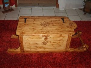 DECO CHALET MONTAGNE - malle coffre artisanal - Kofferschrank