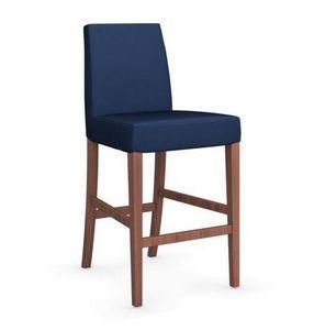 Calligaris - chaise de bar latina de calligaris bleue et noyer - Barstuhl