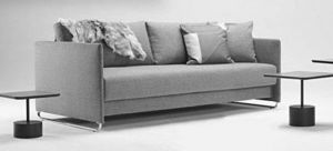 INNOVATION - upend canape design tissu gris convertible lit 200 - Bettsofa