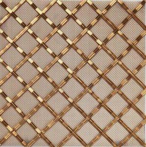 BRASS - g02 002 5x25 - Dekorative Drahtzaun