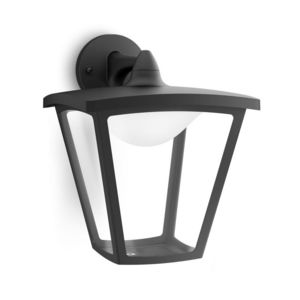 Philips - cottage - applique extérieur descendante noir led  - Garten Wandleuchte