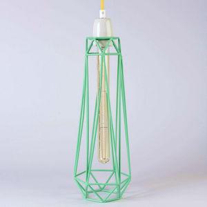 Filament Style - diamond 2 - suspension menthe câble jaune ø12cm | - Deckenlampe Hängelampe