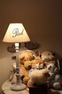 L'ATELIER DES ABAT-JOUR - lampe personnalisée - Kinder Tischlampe