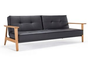 INNOVATION - canapé lit design splitback frej noir convertible  - Bettsofa