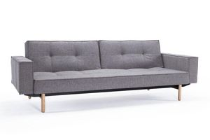 INNOVATION - canape design splitback gris avec accoudoirs conve - Bettsofa