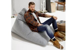 INNOVATION - innovation pouf design soft peak gris granite - Birne Sitzkissen