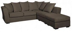 Home Spirit - canapé d'angle fixe watson tissu microfibre grège - Variables Sofa