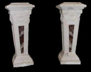 Demeure et Jardin - paire de colonnes - Säule