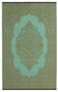 FABHABITAT - tapis intérieur extérieur istanbul aqua et bronze - Moderner Teppich