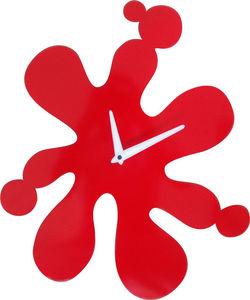 HORA - horloge murale splash rouge - Wanduhr
