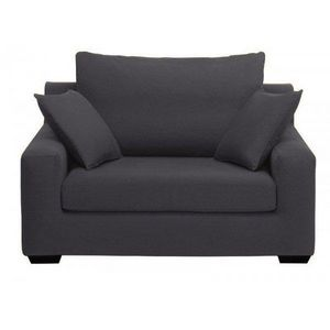 Home Spirit - fauteuil xl manhattan tissu microfibre noir ébène - Sessel