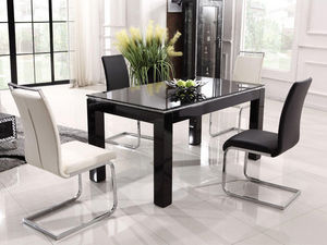 WHITE LABEL - table nina - noir - Rechteckiger Esstisch