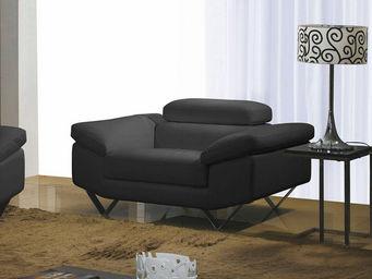 WHITE LABEL - fauteuil cuir magnolia - Sessel