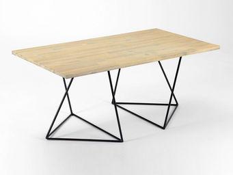 Amadeus - table basse treteau - bois naturel - Rechteckiger Couchtisch
