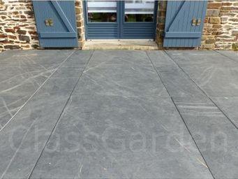 CLASSGARDEN - terrasse de 20 m² en dalles ciée de 80x80 - Bodenplatten Außenbereich