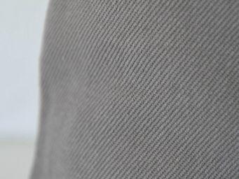 MAISON D'ETE - taie d'oreiller stone washed en coton gris - Kopfkissenbezug